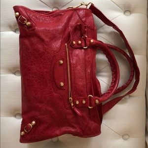 Balenciaga City bag, Rouge Cardinal